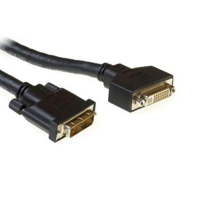 Advanced cable technology DVI kabel : ACT DVI-D Single Link low loss cable male - female 10,00 m - Zwart