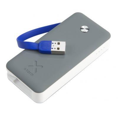 Xtorm powerbank: Li-ion, 6000mAh, 2A, 2x USB - Grijs, Wit