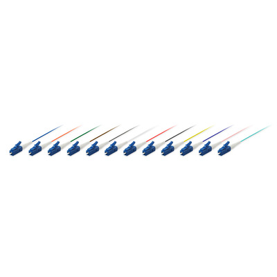 Equip LC/PC, 9/125μm, LSZH/LSOH, 12 pcs, 2 m Fiber optic kabel - Multi kleuren