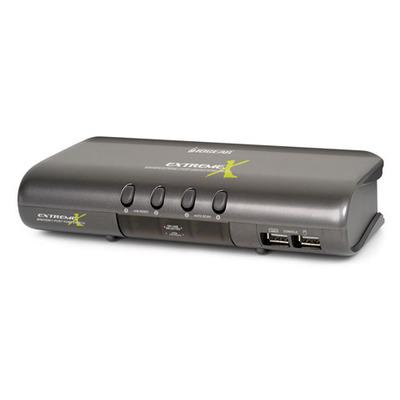 Iogear MiniView Extreme Multimedia KVMP Switch w/Cables KVM switch - Grijs