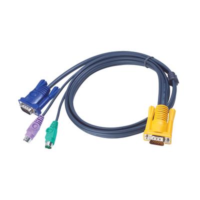 Aten 3M PS/2 met 3 in 1 SPHD KVM kabel - Zwart
