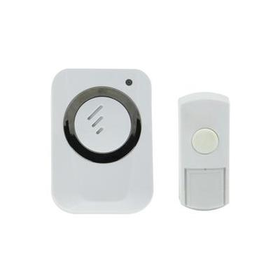 Hq deurbel: Wireless, 433 MHz, IP44, 100 m, Wit