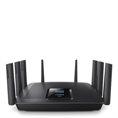 Linksys wireless router: AC5400 - Zwart