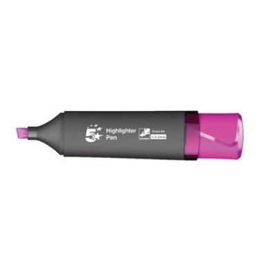 5star verf stift: Highlighter marker, 1 - 5 mm, Fluorescent water-based ink, Pink - Zwart