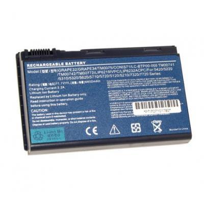 Acer batterij: BT.00604.015 - Zwart