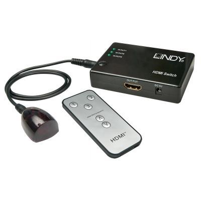 Lindy video switch: 38034 - Zwart