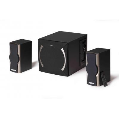Edifier luidspreker set: 2.1, RMS 48 W, 85 dBA, 50 Hz - 20 KHz (±7 dB), AUX, USB, SD, FM, black - Zwart