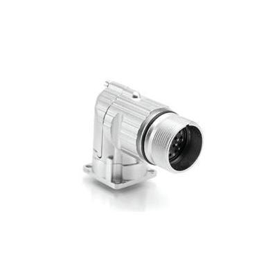 Amphenol elektrische standaardconnector: MA1RAP1201 90° rotatable receptacle, flange mount - Zilver