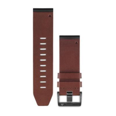 Garmin horloge-band: QuickFit 26 Watch Band, Brown, Leather - Bruin