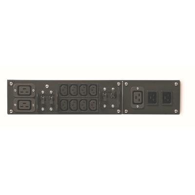 APC Service bypass Panel SBP5000RMI2U - 230V, Hardwire of C20 ingang, (8x) C13 & (2x) C19 uitgang