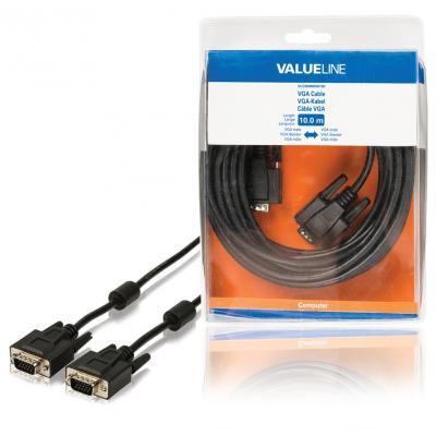 Valueline VGA kabel VGA mannelijk - VGA mannelijk 10.0 m zwart