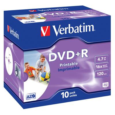 Verbatim DVD+R Wide Inkjet Printable ID Brand DVD