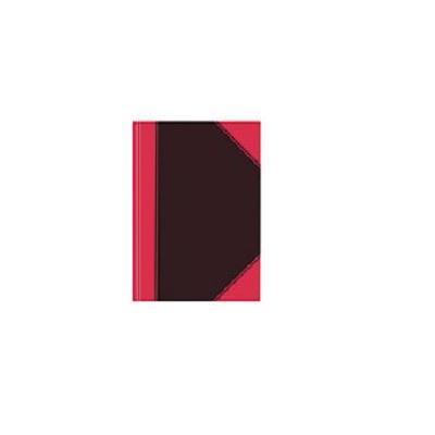 Herlitz schrijfblok: Hardcover note book, A5, 100 sh., squ. - Zwart, Rood