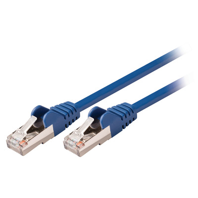 Valueline CAT5e SF/UTP, RJ45 (8P8C) Male - RJ45 (8P8C) Male, 1.5m, Blue Netwerkkabel - Blauw
