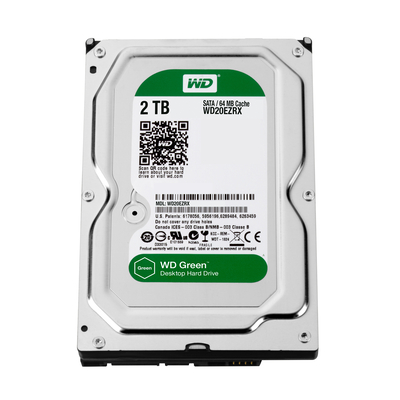 Western digital interne harde schijf: Caviar Green 2TB - Zilver (Refurbished ZG)