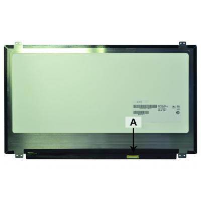 """2-power notebook reserve-onderdeel: 39.624 cm (15.6 """") , 1920X1080, Full HD, LCD, Matte - Zwart, Grijs"""