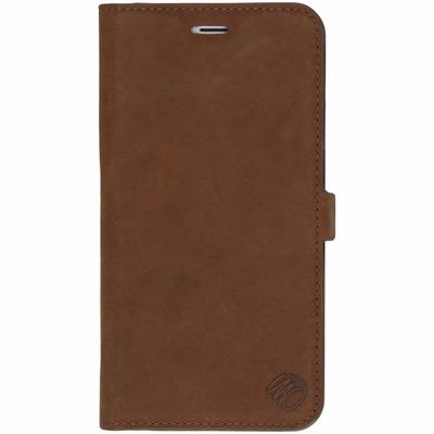 Suède Booktype iPhone 6(s) Plus - Bruin / Brown Mobile phone case