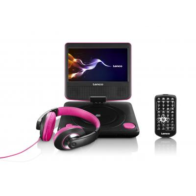 Lenco portable DVD player: DVP-754 - Zwart, Roze