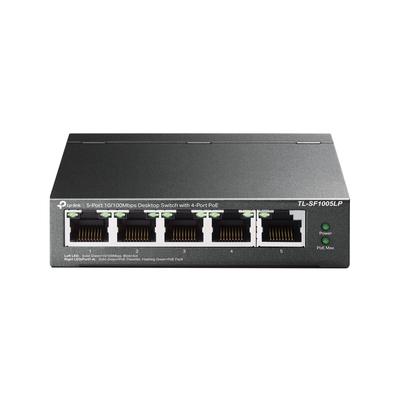 TP-LINK 5× 10/100 Mbps RJ45, Fanless, AUTO MDI/MDIX, 100 x 98 x 25 mm, Switch - Zwart