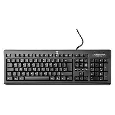 Hp toetsenbord: Classic Wired Keyboard - Zwart