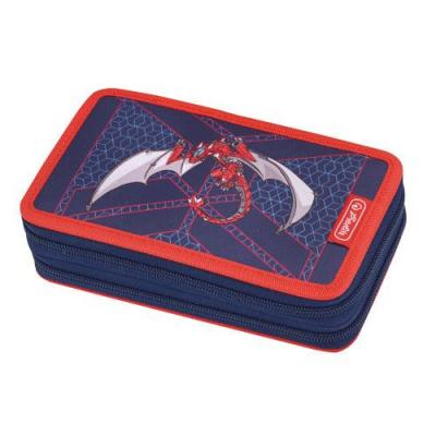 Herlitz potlood case: Red Robo Dragon - Multi kleuren