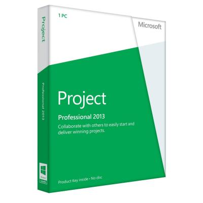Microsoft software suite: Project Professional 2013  NL