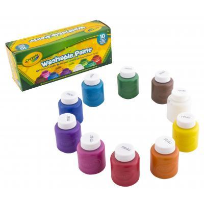 Crayola verf: 10 Potjes met afwasbare verf - Veelkleurig
