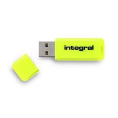 Integral NEON USB flash drive - Geel