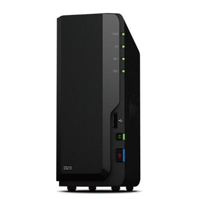 """Synology NAS: DiskStation DiskStation DS218, Realtek RTD1296 1.4 GHz, 2 GB DDR4, 2x 2.5/3.12.7 cm (5"""") SATA, RJ-45, USB ....."""