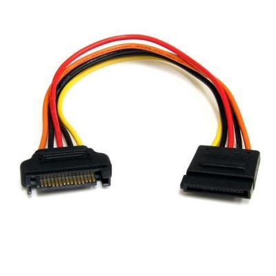 Startech.com ATA kabel: 20cm 15-pins SATA Verlengkabel Voeding - Multi kleuren