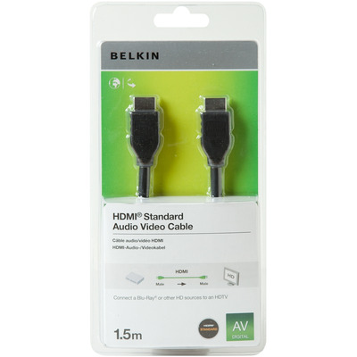 Belkin HDMI kabel: HDMI - Zwart