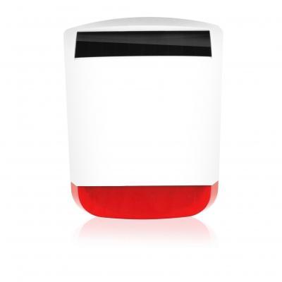 Eminent sirene: Draadloze buitensirene voor EM8610 alarmsysteem - Zwart, Rood, Wit