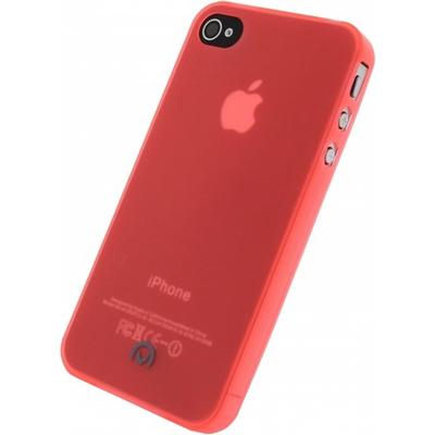 Mobilize Gelly Case Ultra Thin Neon Orange Apple iPhone 4/4S Mobile phone case - Oranje, Doorschijnend