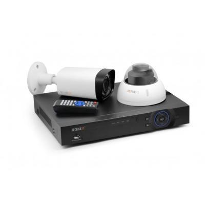Technaxx video toezicht kit: Maxi Security Kit PRO - Zwart, Transparant, Wit