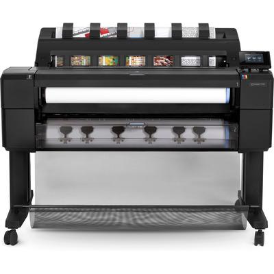 Hp grootformaat printer: Designjet DesignJet T1530 36-inch PostScript-printer met vaste schijf met encryptie - Cyaan, .....