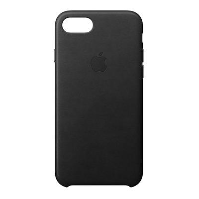 Apple mobile phone case: Leren hoesje voor iPhone 8/7 - Zwart
