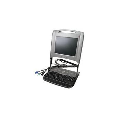 Dell rack console: PowerEdge Rack Console 17FP - Zwart, Zilver