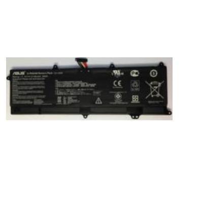 Asus batterij: Li-Po, S200E/X202E/X201E - Zwart