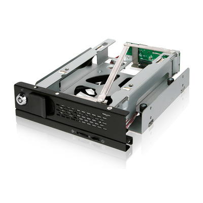 "Icy Dock Tray-Less 3.5"" SATA Hard Drive Mobile Rack, 80mm Cooling Fan Drive bay - Zwart"