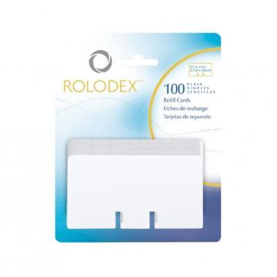 Rolodex visitiekaart: 2 1/4 x 4 refill plain