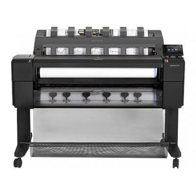 Hp grootformaat printer: Designjet T1500 36-in ePrinter - Cyaan, Grijs, Magenta, Mat Zwart, Foto zwart, Geel