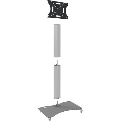 """SmartMetals Deelbare trolley max. 90"""" incl. bracket max. VESA 600-400 Monitorarm - Aluminium, Grijs"""