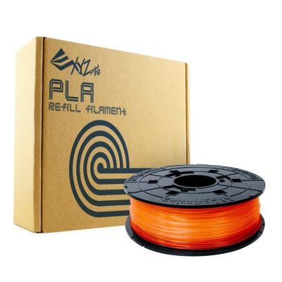 Xyzprinting 3D printing material: PLA, 1.75mm, 600g, Clear tangerine - Oranje, Transparant