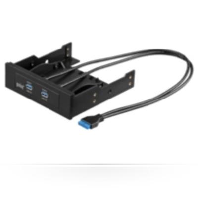 Microconnect USB3SLOT1 Interfaceadapter - Zwart, Blauw