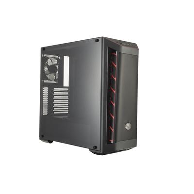 Cooler Master MasterBox MB511 Behuizing - Zwart, Rood