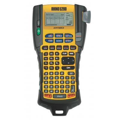 Dymo labelprinter: RHINO 5200 Hard Case Kit - Zwart, ABC