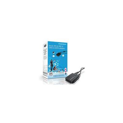Conceptronic kabel adapter: Serial ATA & IDE to USB & eSATA adapter - Zwart