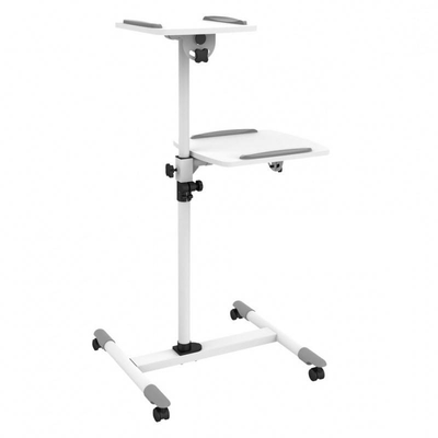 Techly Universal Trolley for Notebook / Projector, White Multimedia kar & stand - Wit