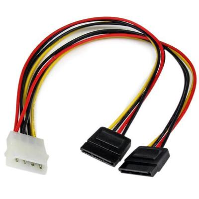Startech.com electriciteitssnoer: 30 cm LP4 naar 2x SATA Voedingskabel Y-adapter