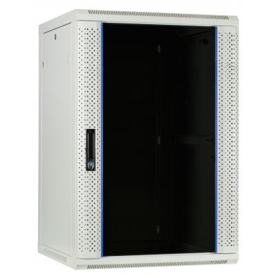DS-IT 18U witte wandkast met glazen deur 600x600x900mm Stellingen/racks
